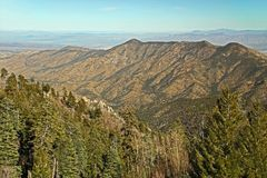 Panoramic View From Mt. Lemmon Ski Valley Royalty Free Stock Photos