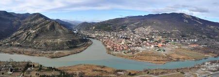 Panoramic view of Mtskheta. Stock Image