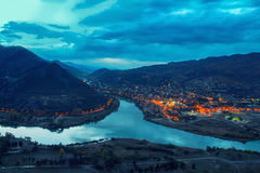 Panoramic view of Mtskheta Royalty Free Stock Photography