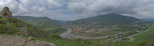 Panoramic view of Mtskheta Stock Images