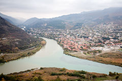 Panoramic view of Mtskheta Royalty Free Stock Photo