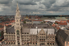 Panoramic view of Munich Germany Royalty Free Stock Photos