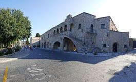 Municipal Art Gallery of Rhodes. A panoramic view of Municipal Art Gallery of Rhodes royalty free stock photos