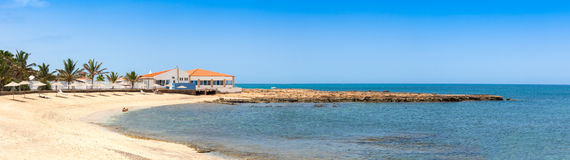Panoramic view of Murdeira bay beach in Sal Cape Verde - Cabo Ve Stock Photo