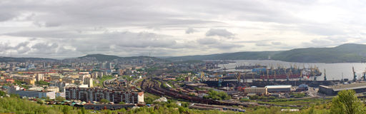 Panoramic view of Murmansk Stock Images