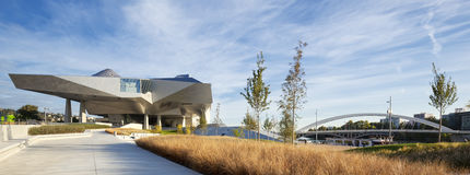 Panoramic view of Musee des Confluences Stock Photo