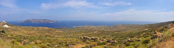 Panoramic view of mykonos, greek island Royalty Free Stock Photo