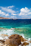 Panoramic view on Mykonos island Royalty Free Stock Photography