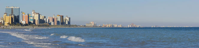 Panoramic view of Myrtle Beach Royalty Free Stock Photo
