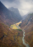 Panoramic View, Naeroy Valley, Stalheim, Norway Stock Photos