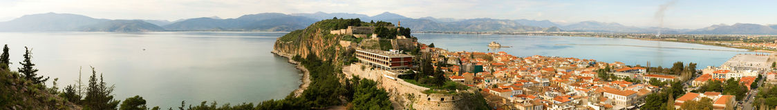 Panoramic view of Nafplion Royalty Free Stock Image