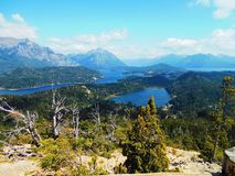Panoramic view of the Nahuel Huapi National Park. Argentina stock image