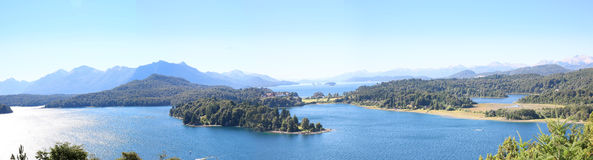 Panoramic view of Nahuel Huapi Nationial Park- Argentina Stock Images
