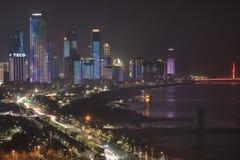 Panoramic view of Nanchang City, the capital of Jianxi Province in China, at night Royalty Free Stock Photos