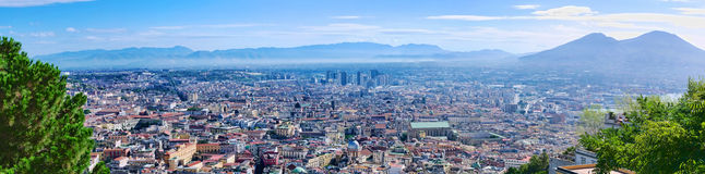 Panoramic view of Naples Royalty Free Stock Photo