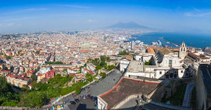 Panoramic view of Naples city, Italy Stock Photography