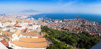 Panoramic view of Naples city, Italy Royalty Free Stock Photography