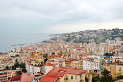 Panoramic view of Naples, Italy Royalty Free Stock Photos
