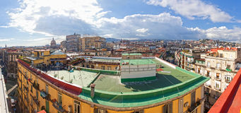 Panoramic view of Naples, Italy Stock Images