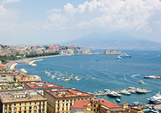 Panoramic view of Naples from Posillipo Stock Photography