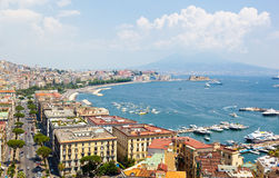 Panoramic view of Naples from Posillipo Royalty Free Stock Image