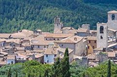 Panoramic view of Narni. Lazio. Italy. Royalty Free Stock Photography