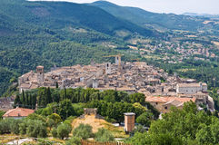 Panoramic view of Narni. Umbria. Italy. Royalty Free Stock Image