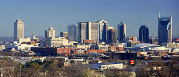 Panoramic view of Nashville, Tennessee Skyline in morning light Stock Image