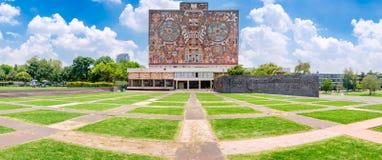 The National Autonomous University of Mexico. Panoramic view of the National Autonomous University of Mexico stock photos
