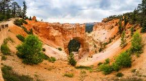 Panoramic view of natural bridge rock formation Royalty Free Stock Photo