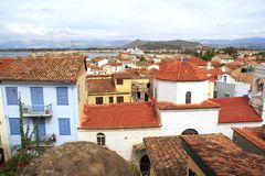 Panoramic view of Nauplio town from the hotel. Greece stock photos