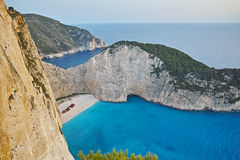Panoramic view of Navagio Shipwreck beach, Zakynthos Royalty Free Stock Image