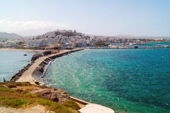 Panoramic view in Naxos island, Cyclades Royalty Free Stock Images