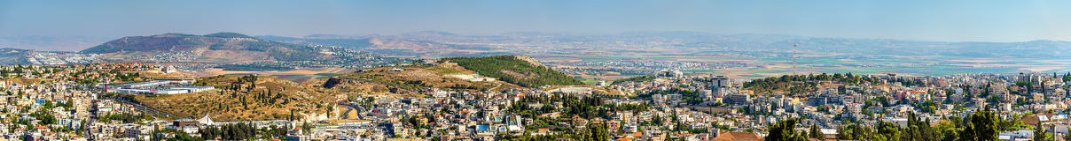 Panoramic view of Nazareth - Israel Stock Images
