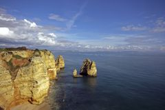Panoramic view near Lagos in Portugal Stock Image