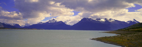 Panoramic view near Perito Moreno Glacier at Canal de Tempanos in Parque Nacional Las Glaciares near El Calafate, Patagonia, Argen Stock Photo