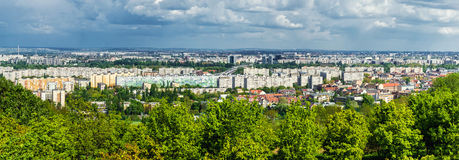 Panoramic view of neighborhood in Budapest Royalty Free Stock Image