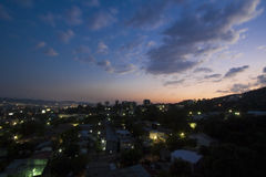 Panoramic view of a neighbourhood in El Salvador. Panoramic view of a middle class neighbourhood in El Salvador, Central America Royalty Free Stock Images