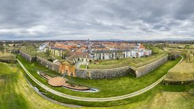 Neuf Brisach Alsace France. A panoramic view of Neuf Brisach Alsace France stock photography