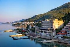 Panoramic view of Neum. The tourist resort of Neum, Bosnia Herzegovina Royalty Free Stock Photos