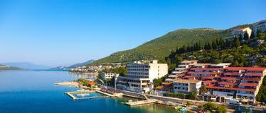 Panoramic view of Neum. The tourist resort of Neum, Bosnia Herzegovina Stock Photography