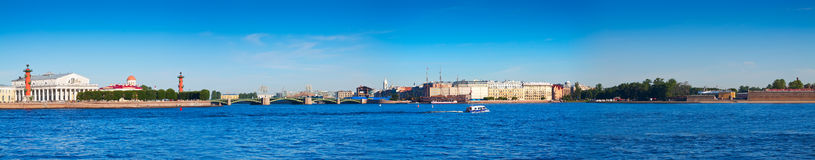 Panoramic view from Neva river Stock Photo