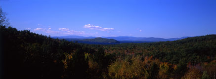 Panoramic View of New Hampshire. Birds-eye view of New Hampshire in fall royalty free stock images