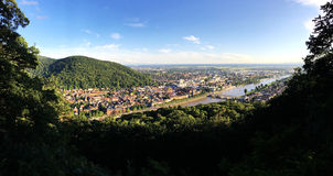 The panoramic view of new town in Heidelberg Royalty Free Stock Image