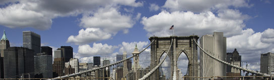 Panoramic View of New York City Buildings Stock Photos