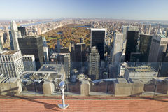 Panoramic view of New York City and Central Park from �Top of the Rock� viewing area at Rockefeller Center, New York City, New Stock Photos