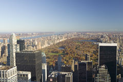 Panoramic view of New York City and Central Park from �Top of the Rock� viewing area at Rockefeller Center, New York City, New Royalty Free Stock Photos