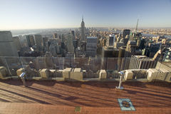 Panoramic view of New York City and Central Park from �Top of the Rock� viewing area at Rockefeller Center, New York City, New Royalty Free Stock Photography