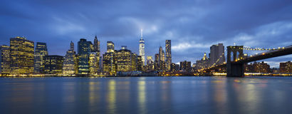 Panoramic view of New York City Royalty Free Stock Image