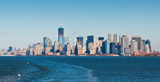 Panoramic view of the New York City skyline in Manhattan Royalty Free Stock Photos
